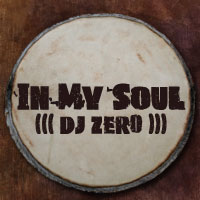 In My Soul mixed by DJ Zero written on a djembe drum